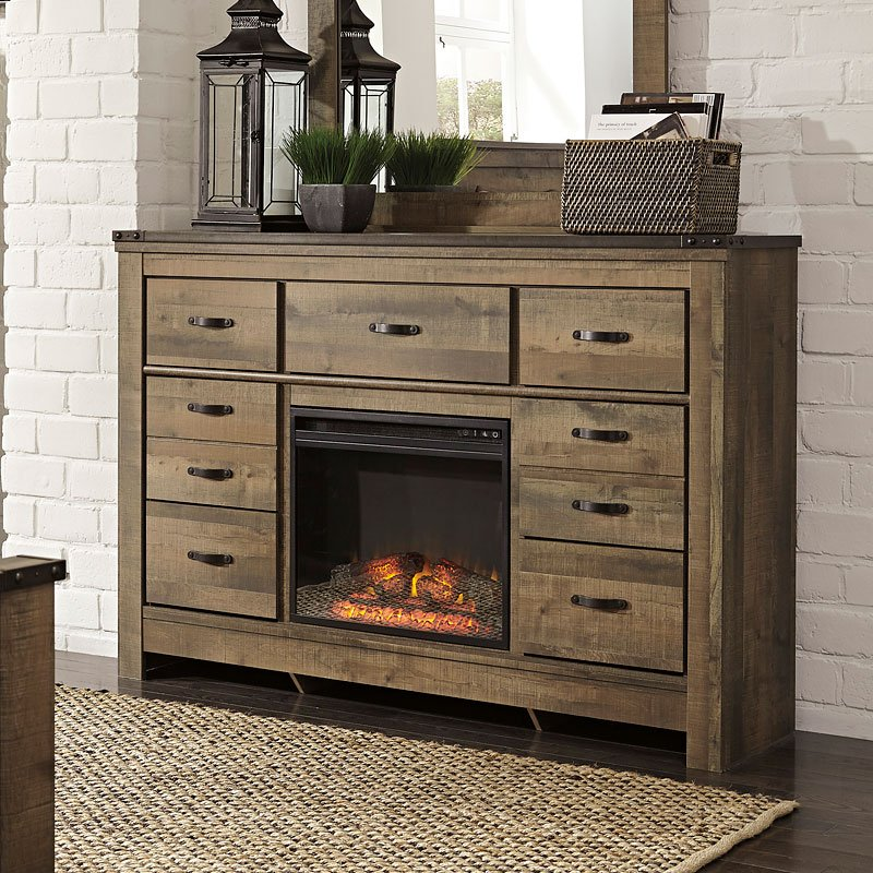 Trinell Dresser W Fireplace By Signature Design By Ashley Furniturepick