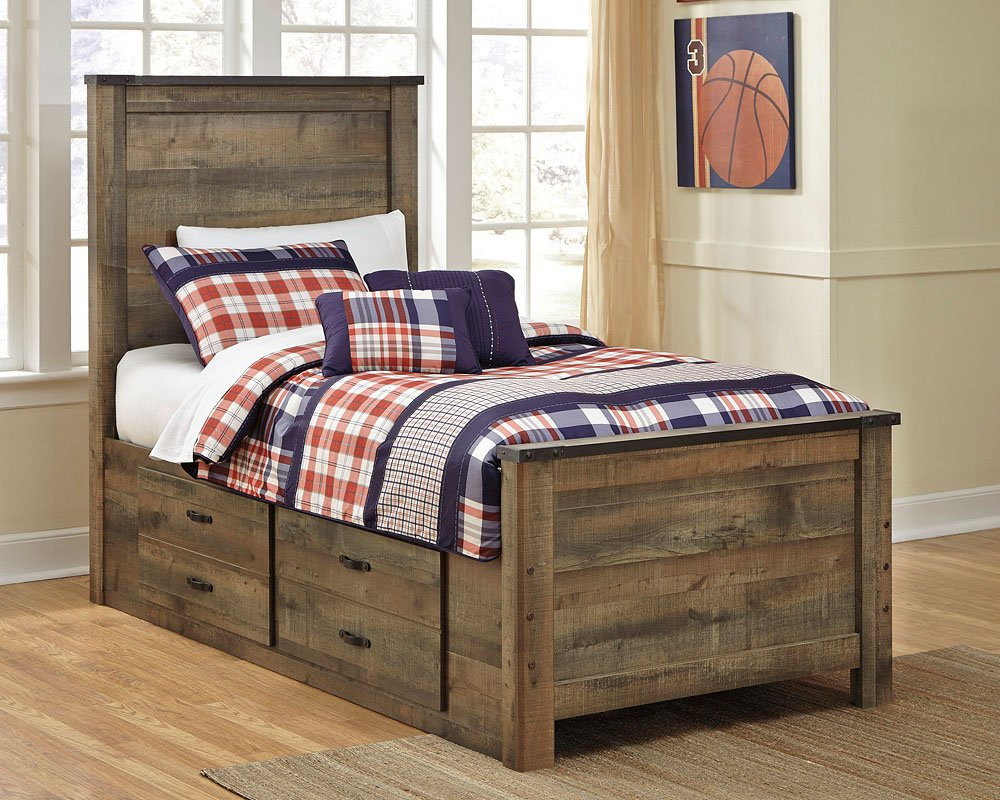 Trinell youth storage bed by signature design by ashley furniturepick for Youth storage bedroom furniture