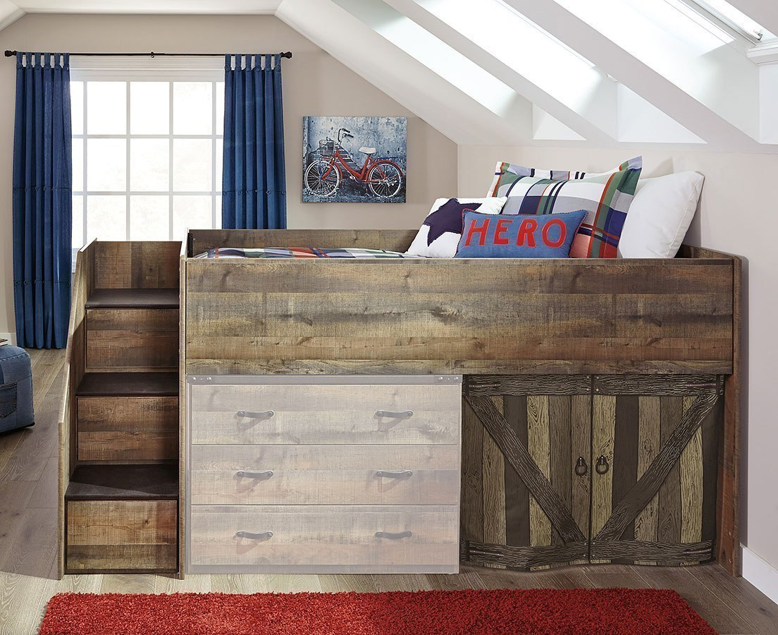 Trinell Twin Loft Bed W/ Left Storage Steps By Signature Design By Ashley    FurniturePick