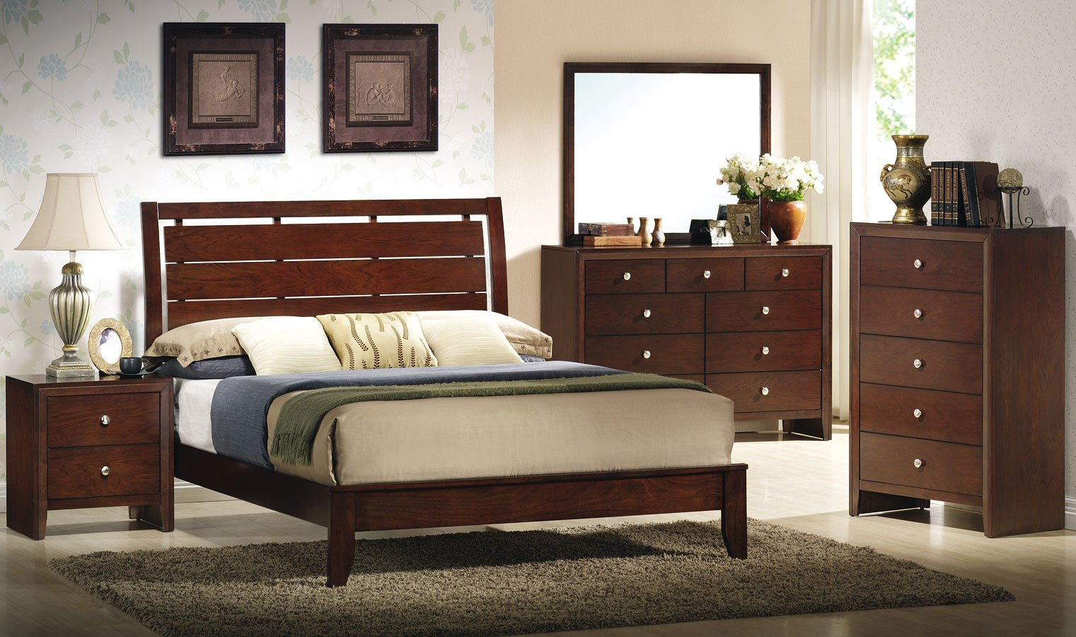 Evan low profile bedroom set bedroom sets bedroom for Furniture markup
