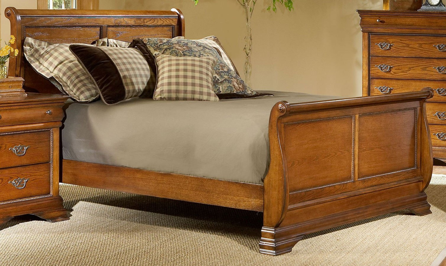Shenandoah sleigh bed bedroom furniture bedroom