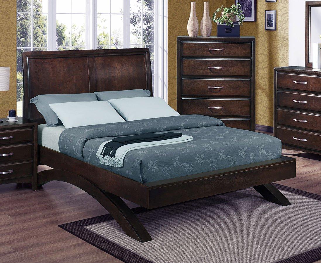 Vera platform bed bedroom furniture bedroom for Bedroom furniture platform beds