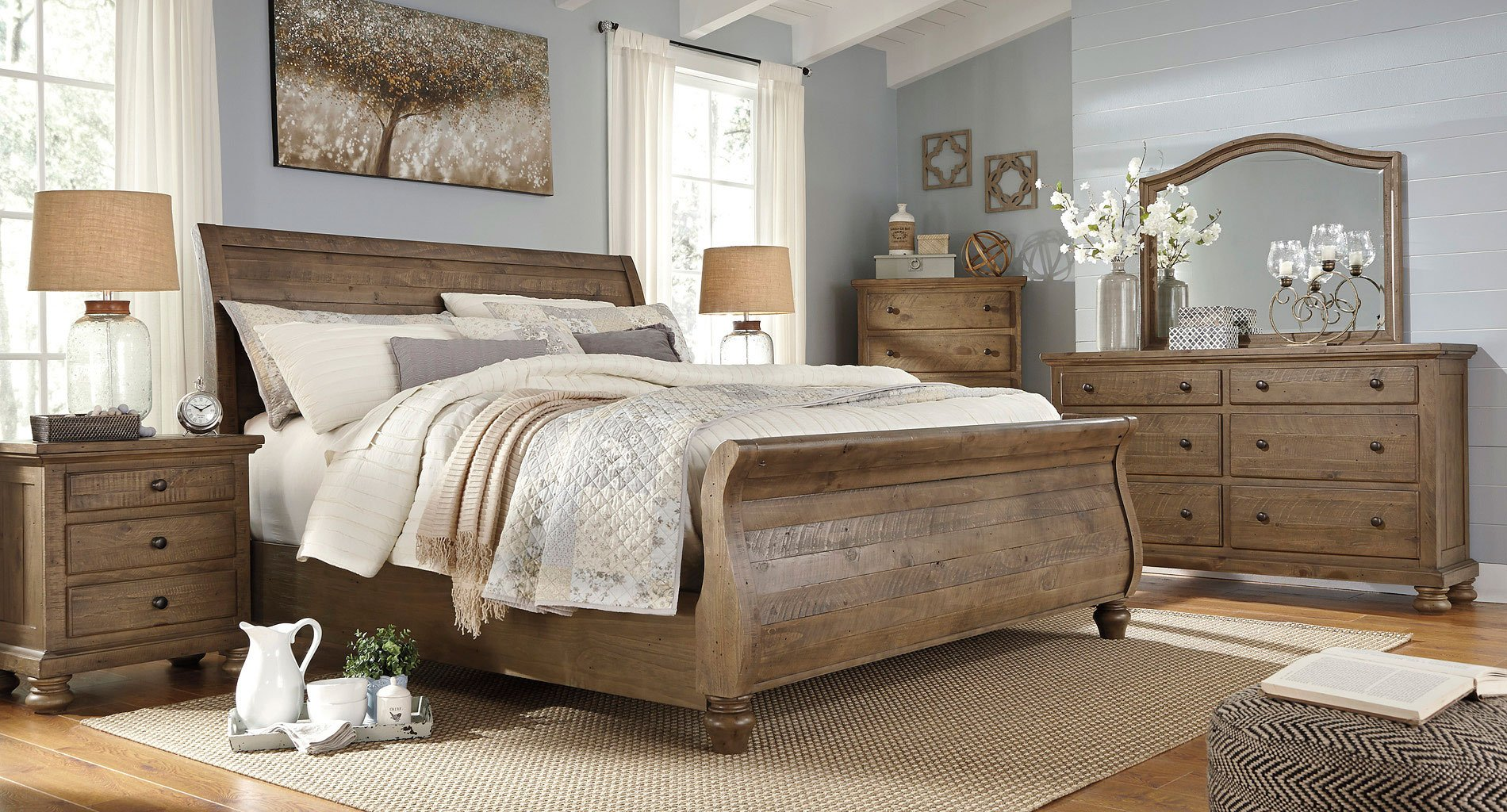 Trishley Sleigh Bedroom Set By Signature Design By Ashley