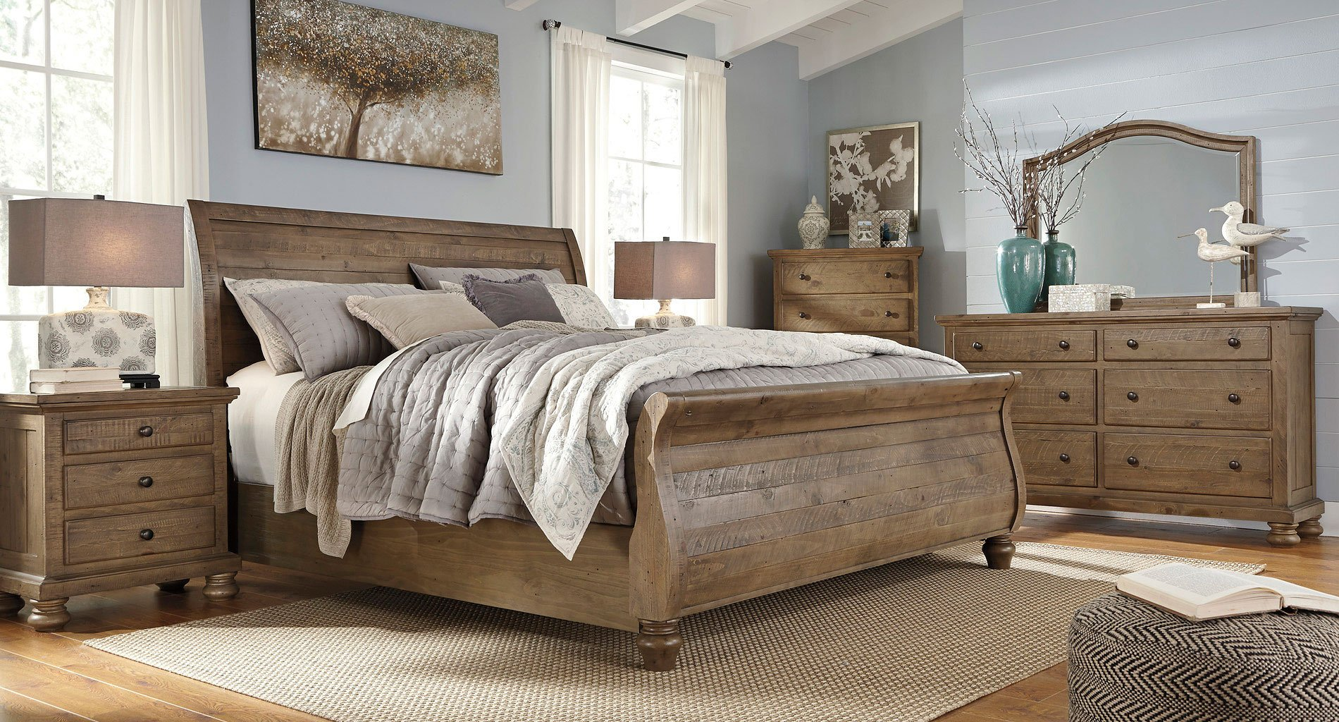 Modern Sleigh Bedroom Sets Design