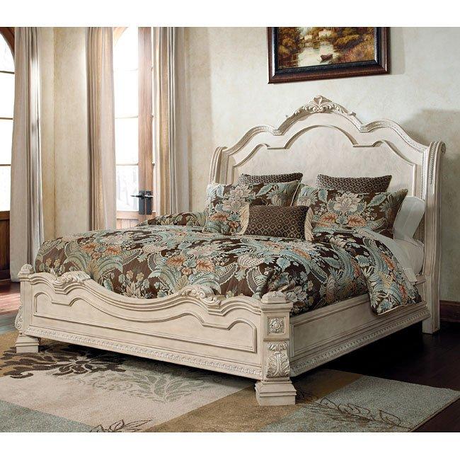 Timberline Sleigh Bedroom Set Signature Design: Ortanique Sleigh Bed Signature Design By Ashley Furniture
