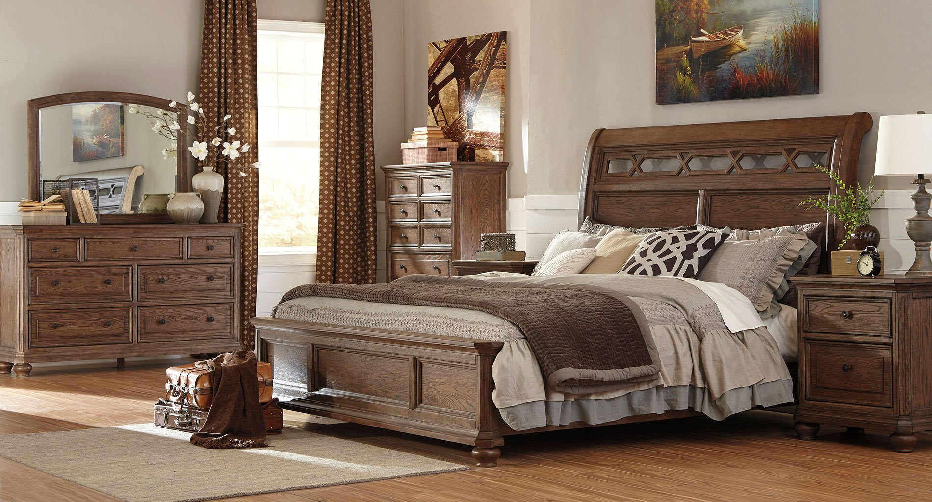 Maeleen Sleigh Bedroom Set By Signature Design By Ashley