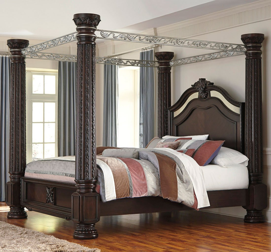 Laddenfield Canopy Bed Beds Bedroom Furniture Bedroom