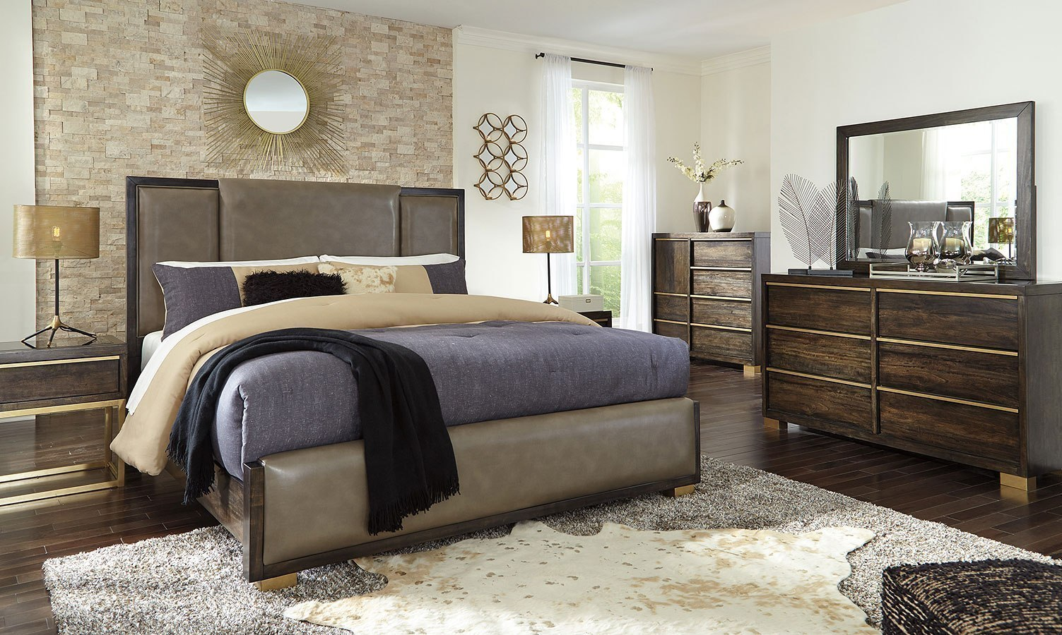 Amazing Upholstered Bedroom Set Remodelling