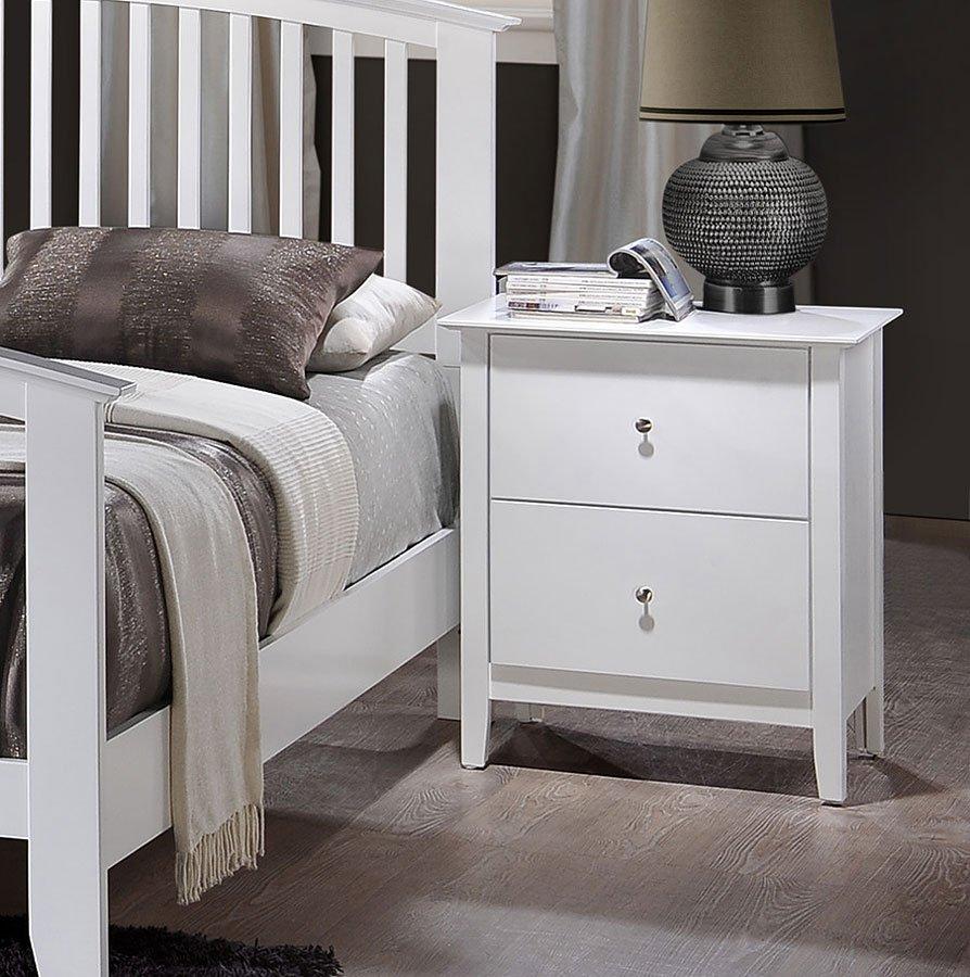 Lawson Panel Bedroom Set (White)