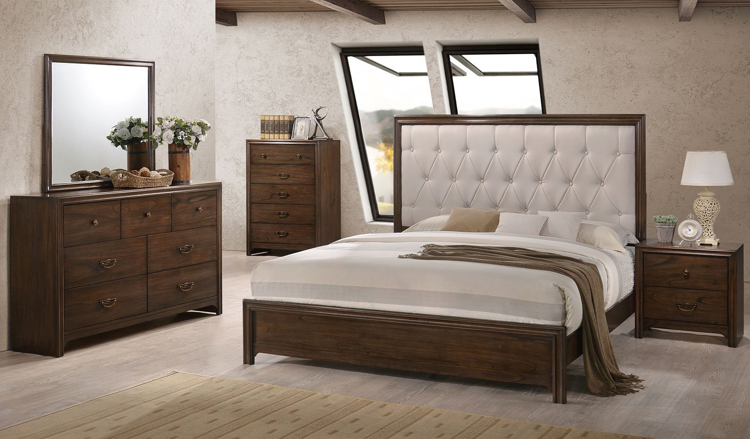 Chloe panel bedroom set bedroom furniture bedroom for Furniture markup