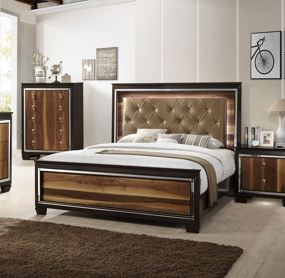 Kelda Panel Bed By Crown Mark Furniture Furniturepick