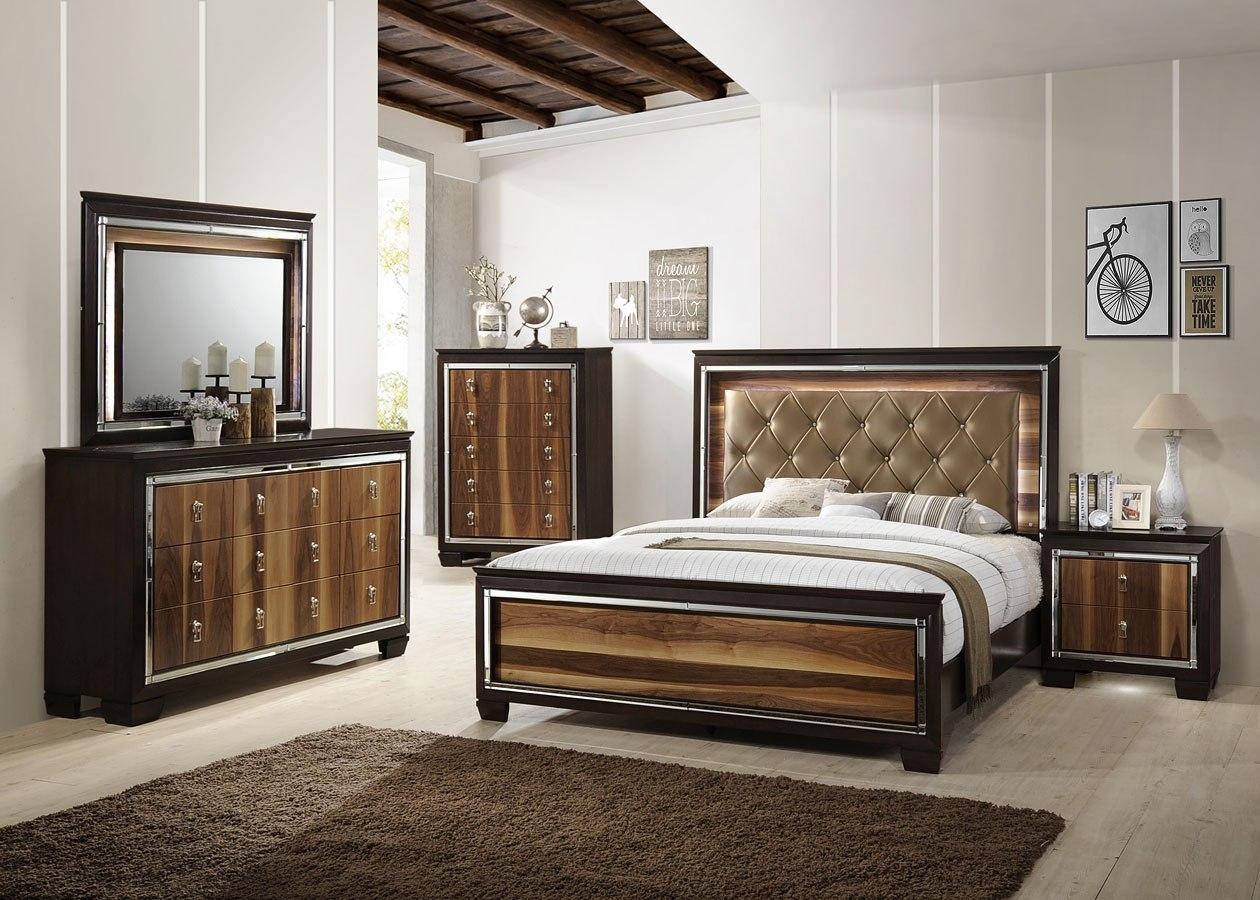 Crown Mark Farrow Queen Bedroom Group: Kelda Panel Bedroom Set By Crown Mark Furniture
