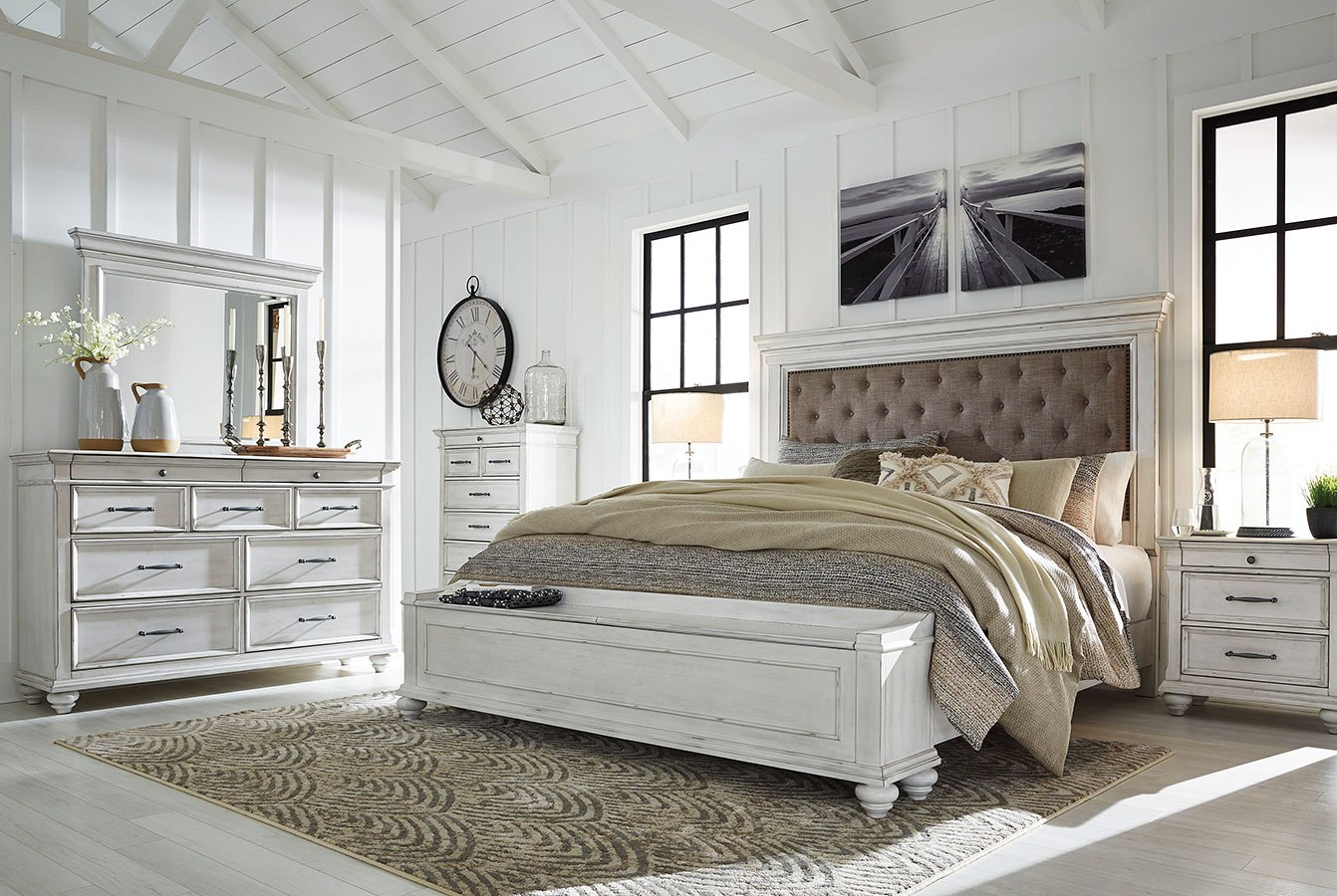 kanwyn upholstered storage bedroom setsignature design