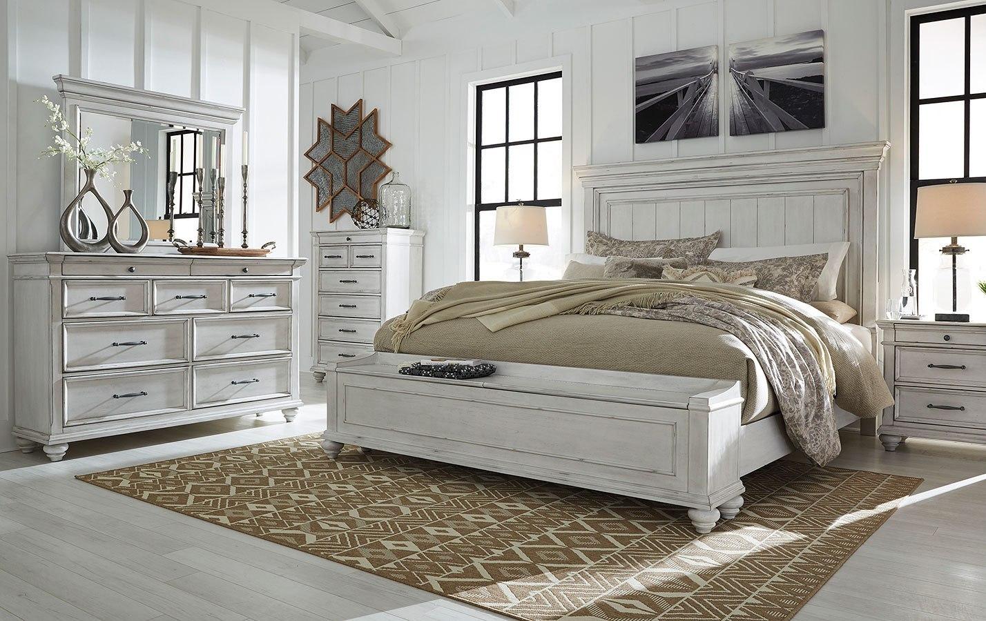 kanwyn storage bedroom setbenchcraft  furniturepick