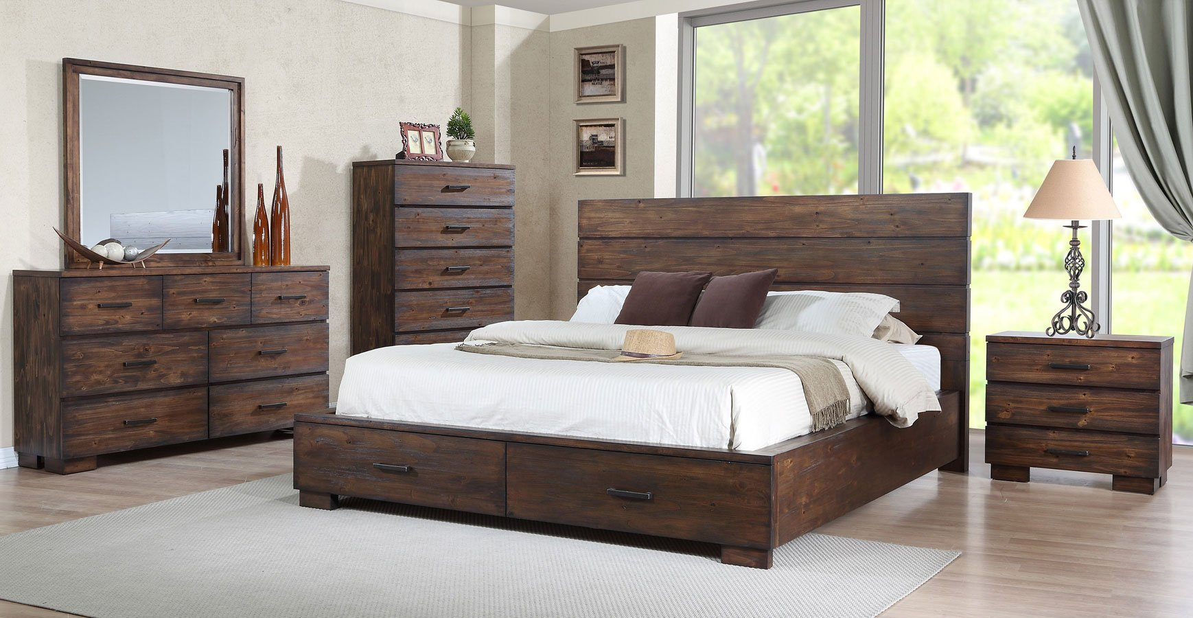 Cranston storage bedroom set bedroom furniture bedroom for Furniture markup