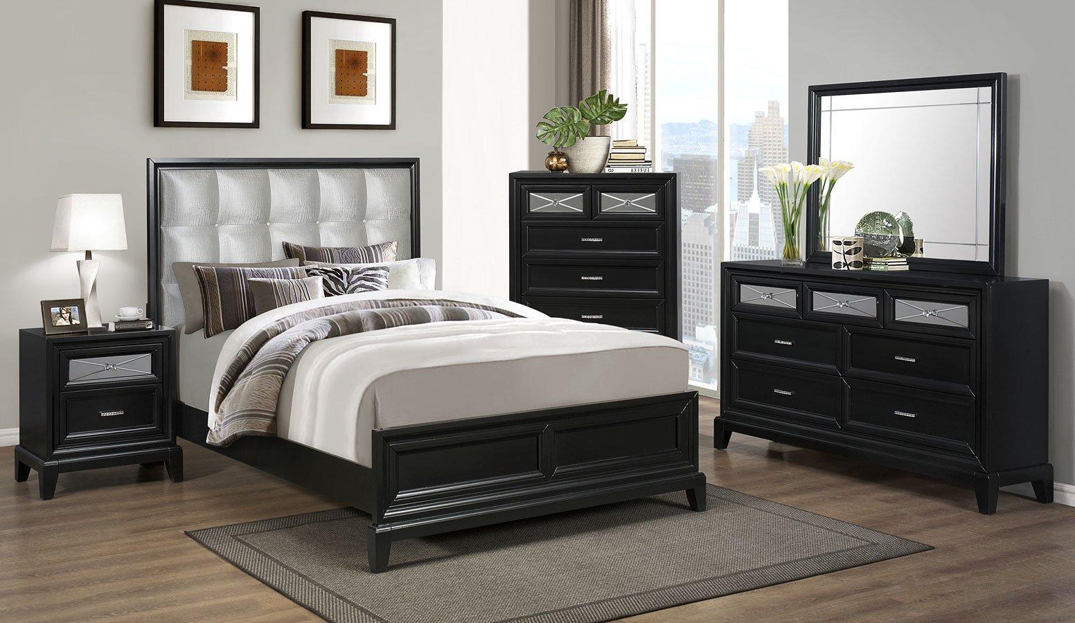 Elise panel bedroom set bedroom sets bedroom furniture for Bedroom furniture sets b q