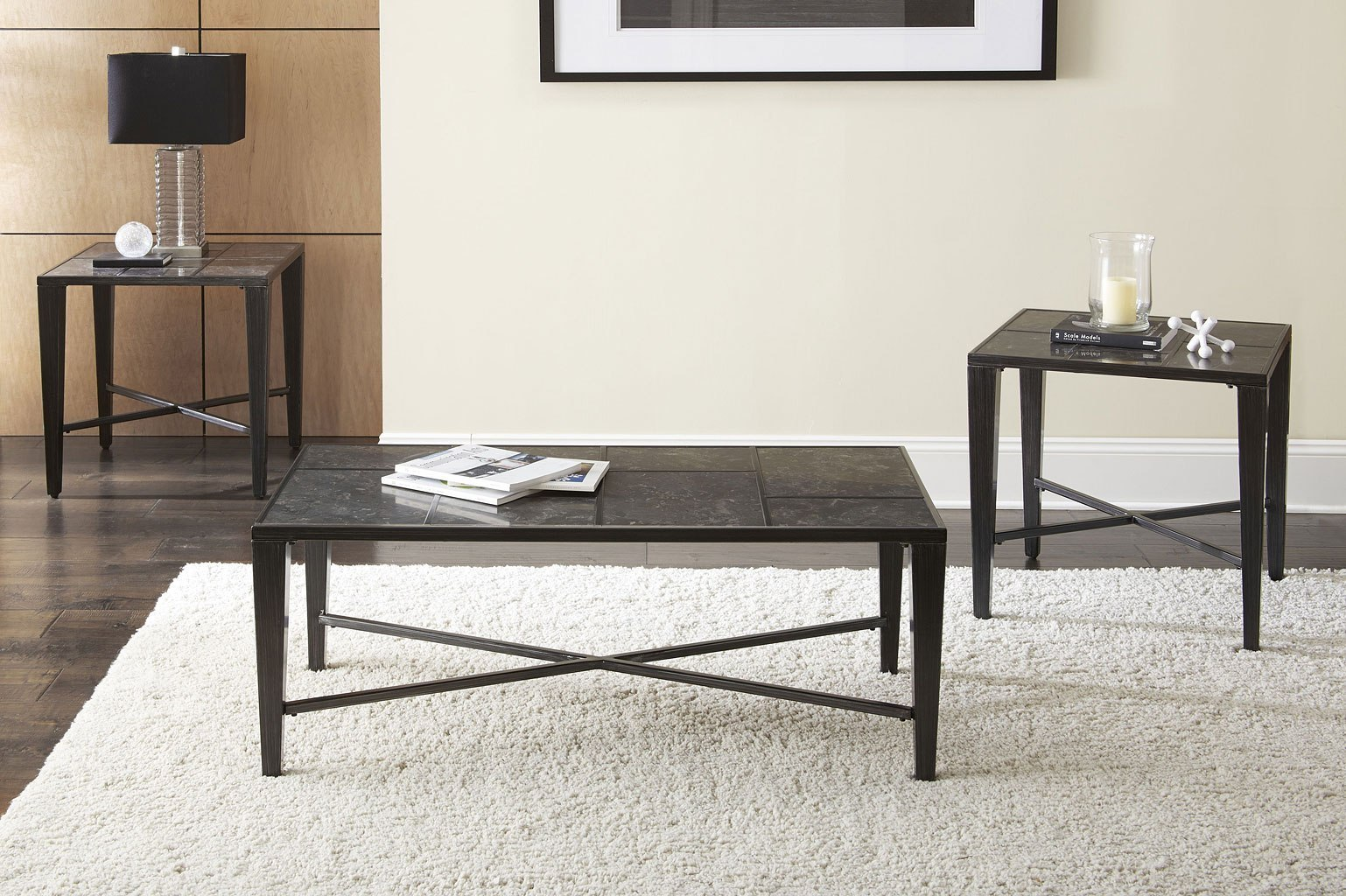 Baxter bluestone 3 piece occasional table set occasional and accent furniture living