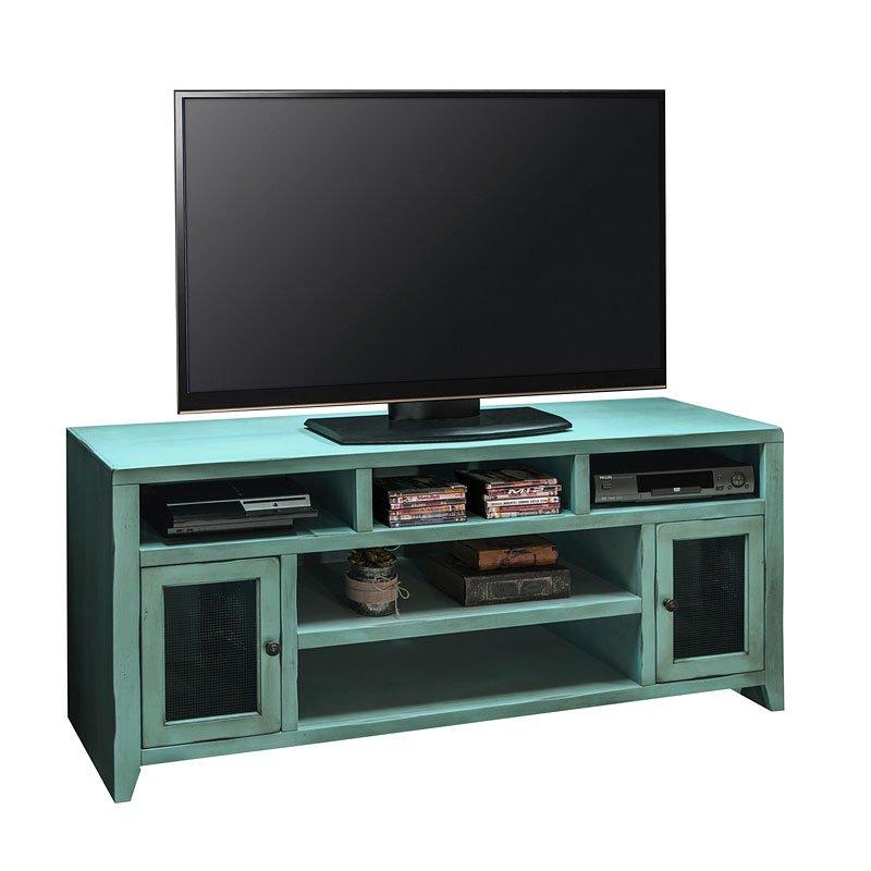 Calistoga 66 Inch TV Console (Rustic Aqua)