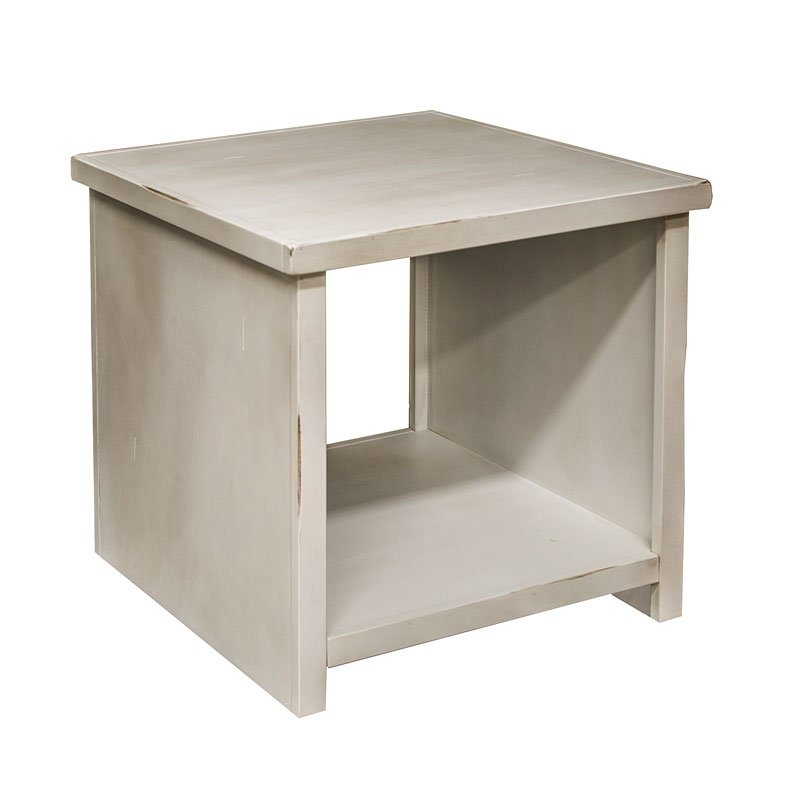 Calistoga End Table (Rustic White) By Legends Furniture