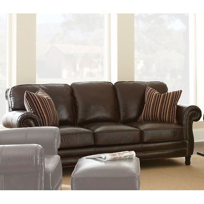 Chateau Leather Couch: Chateau Leather Sofa By Steve Silver Furniture