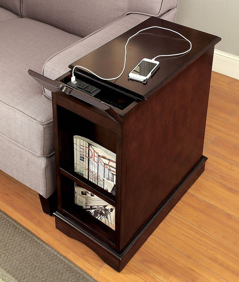 Lilith I Side Table W Usb And Power Outlet Cherry By