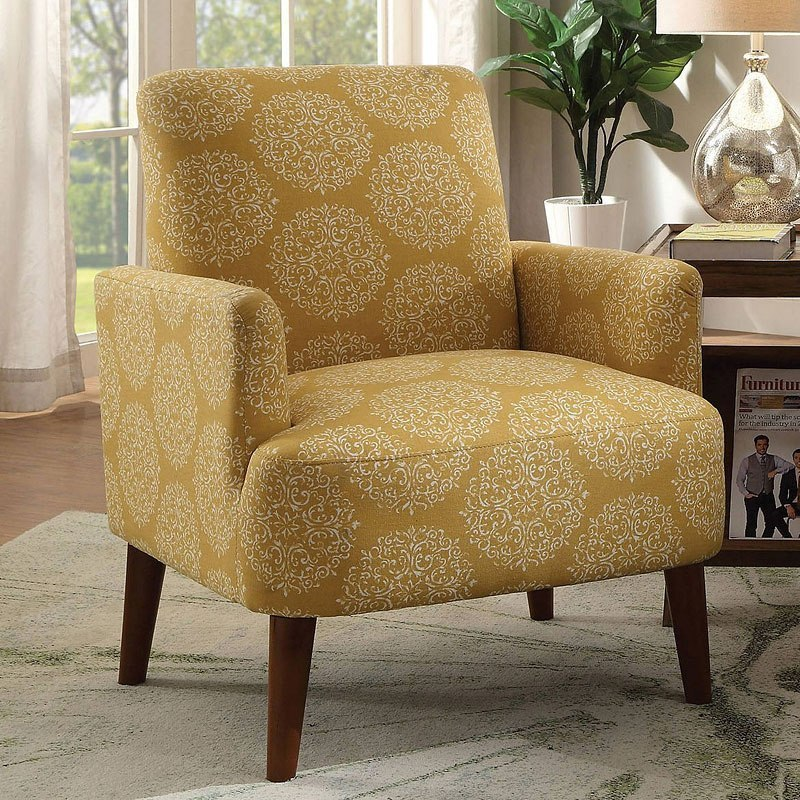 America Accent Chairs.Bray Accent Chair Yellow
