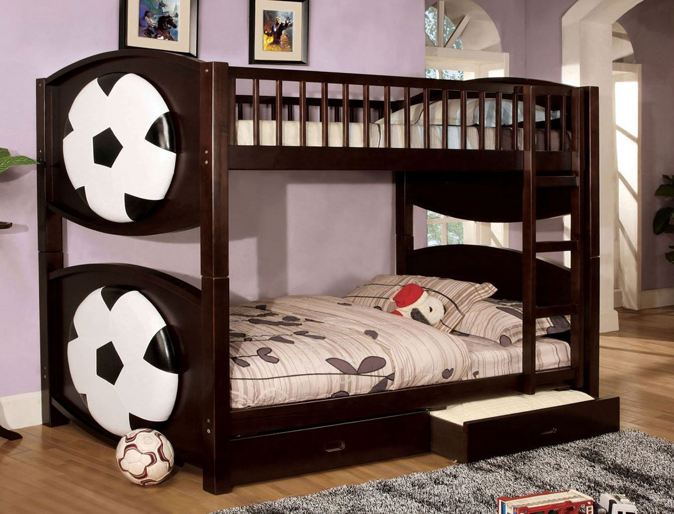 Omnus Bedroom Set W/ Olympic Bunk Bed (Ball Design) By