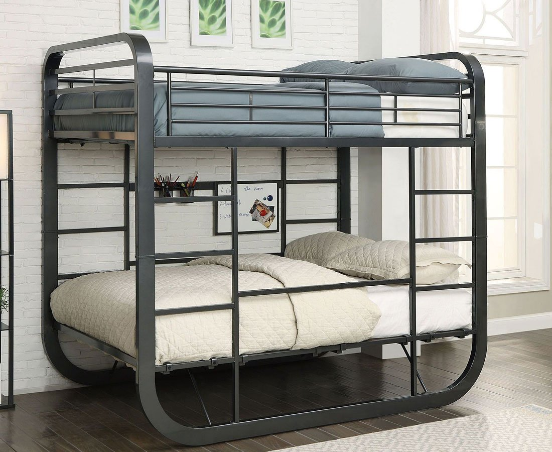 Olivet twin over twin loft bunk bed kids loft and bunk for Furniture n more beds