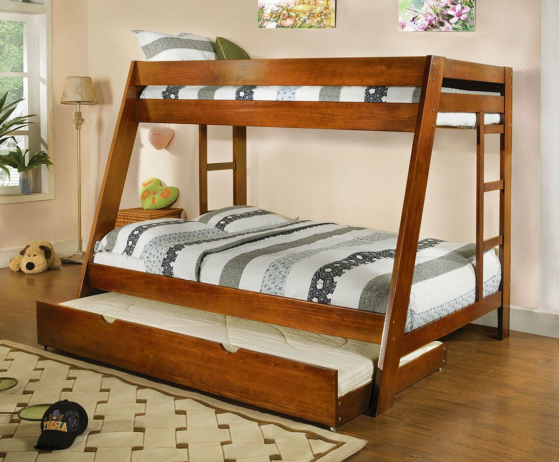 Arizona Twin Over Full Bunk Bed Oak By Furniture Of