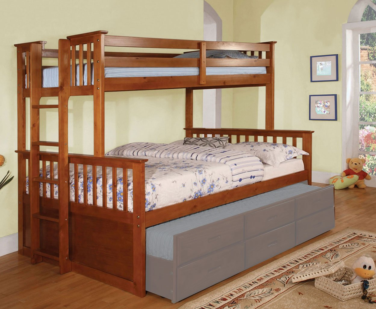 University Twin Over Queen Bunk Bed Oak Kids Loft And Bunk Beds Kids And Youth Furniture