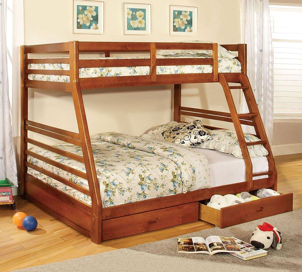 California Iii Bunk Bedroom Set Oak