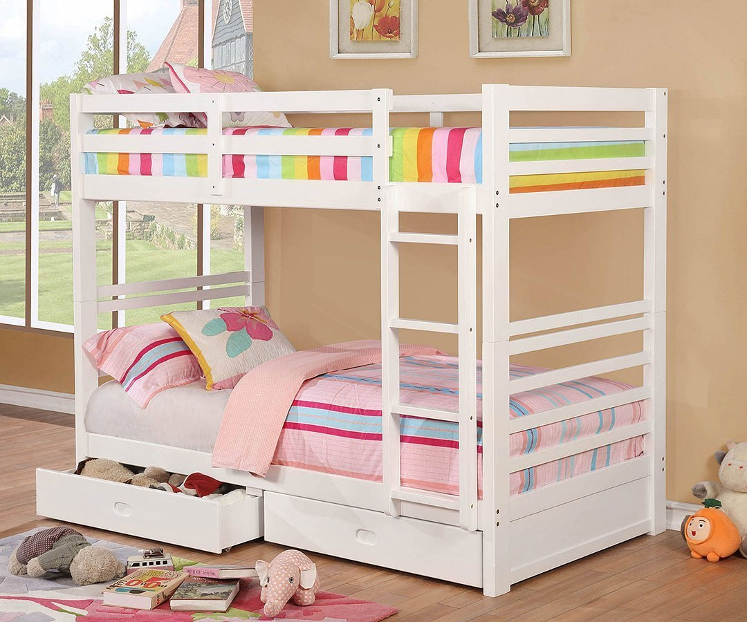 California IV Bunk Bedroom Set (White) by Furniture of America ...