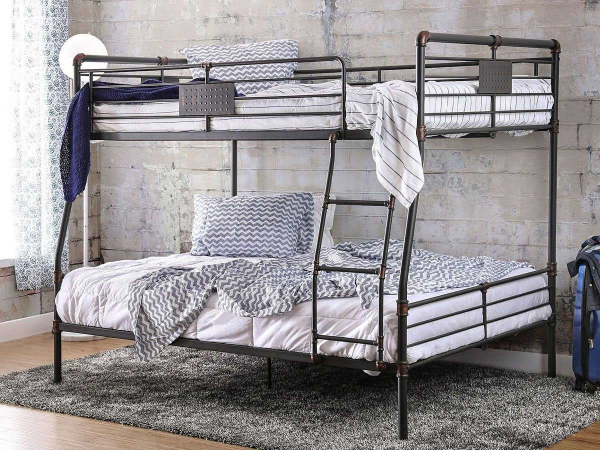 olga i industrial full over queen bunk bed by furniture of america furniturepick. Black Bedroom Furniture Sets. Home Design Ideas
