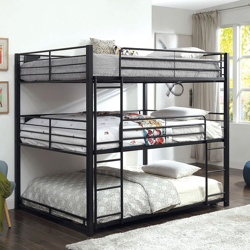 Furniture Of America Triple Bunk Bed: Carolyn Triple Queen Bunk Bed By Furniture Of America