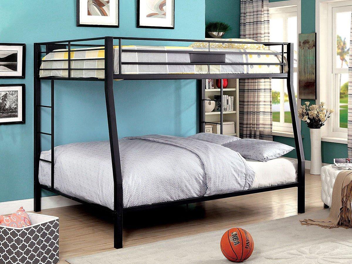 claren full over queen bunk bed by furniture of america furniturepick. Black Bedroom Furniture Sets. Home Design Ideas
