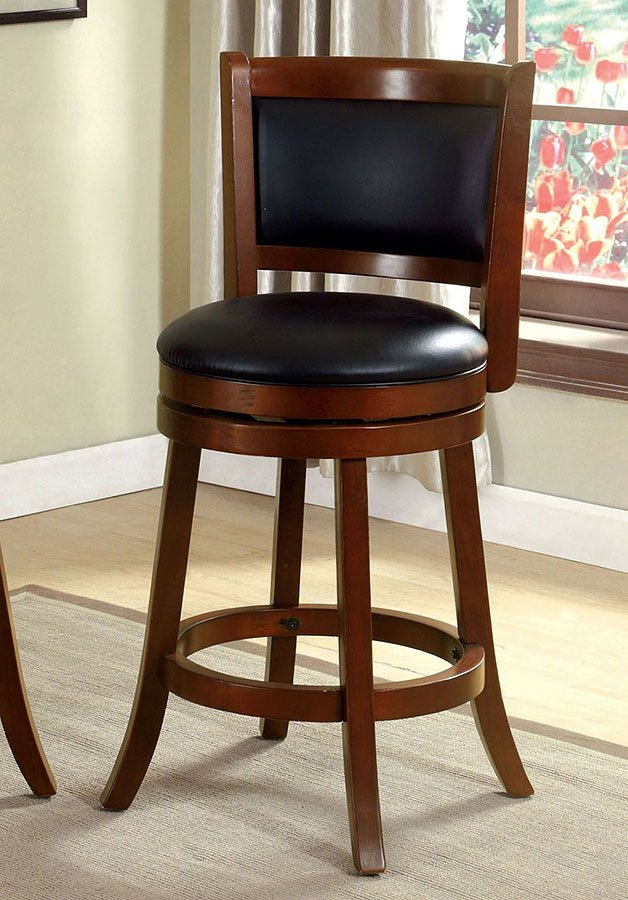 Letcher 25 Inch Swivel Bar Stool Dark Cherry Home Bar And Game
