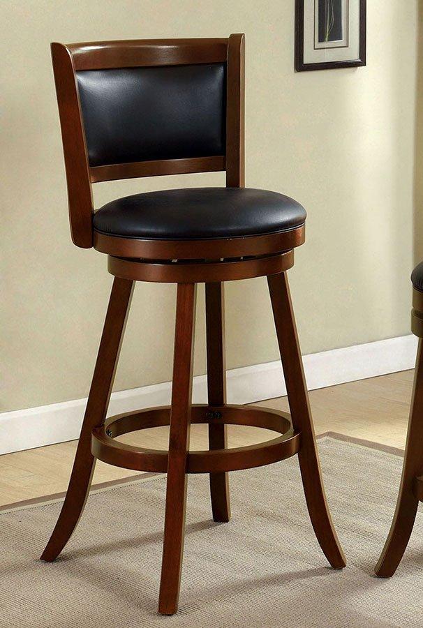 Letcher 30 Inch Swivel Bar Stool Dark Cherry By Furniture Of