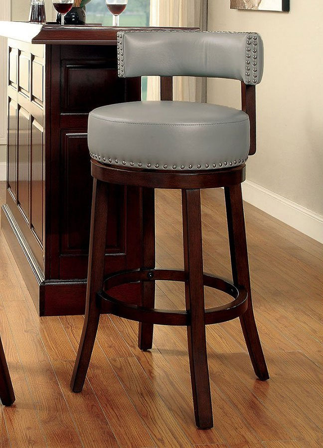 Shirley 30 Inch Swivel Bar Stool Gray Set Of 2 Home