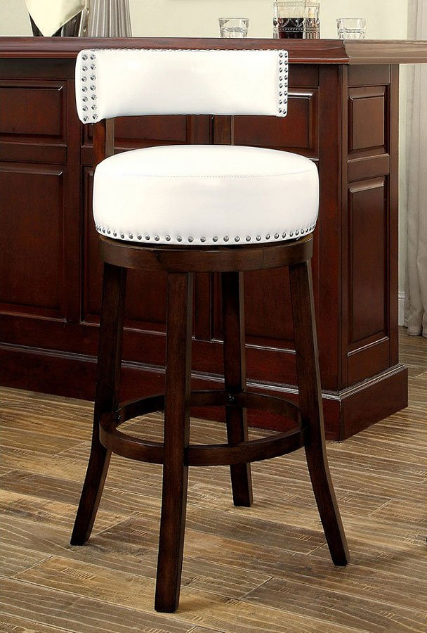 Shirley 25 Inch Swivel Bar Stool White Set Of 2 By Furniture Of