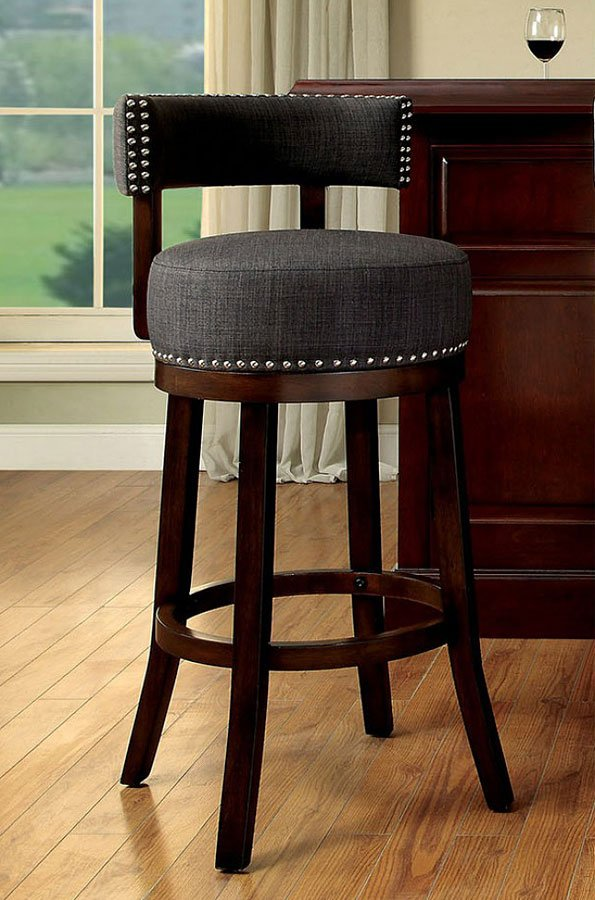 Lynsey 25 Inch Swivel Bar Stool Gray Set Of 2 By