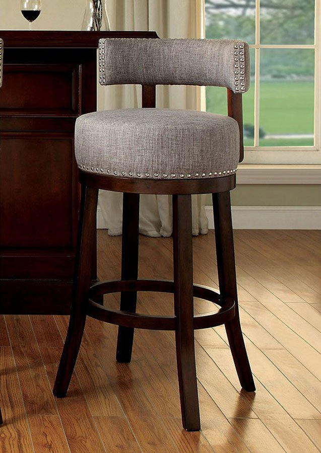 Lynsey 25 Inch Swivel Bar Stool Light Gray Set Of 2