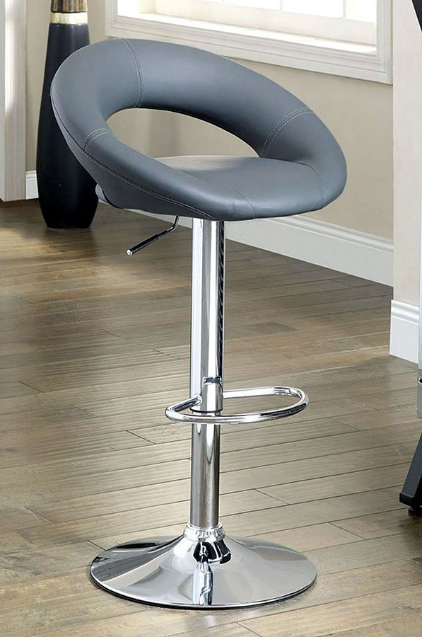 Excellent Numbi Adjustable Height Swivel Bar Stool Gray Set Of 2 Gamerscity Chair Design For Home Gamerscityorg