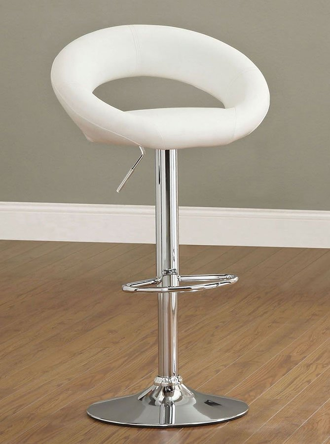 Admirable Numbi Adjustable Height Swivel Bar Stool White Set Of 2 Gamerscity Chair Design For Home Gamerscityorg
