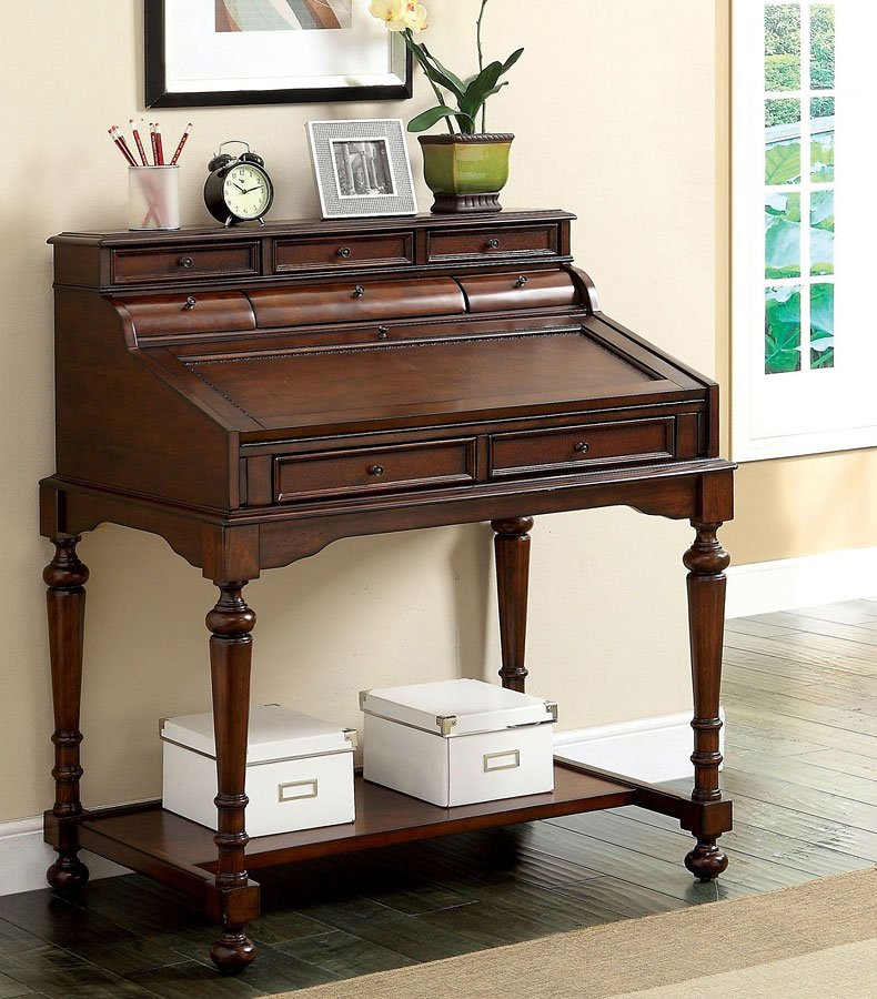 Canthus Secretary Desk By Furniture Of America
