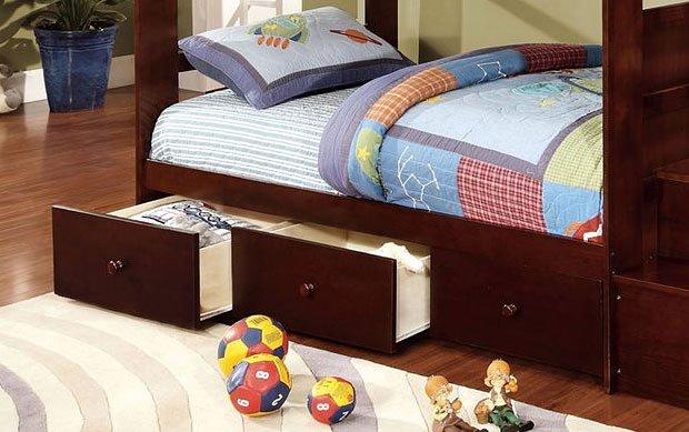Canberra Bunk Bedroom Set Dark Walnut By Furniture Of