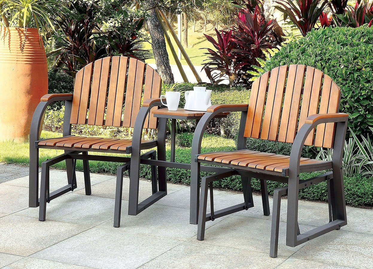 Perse Outdoor Rocking Chairs W Attached Table Outdoor