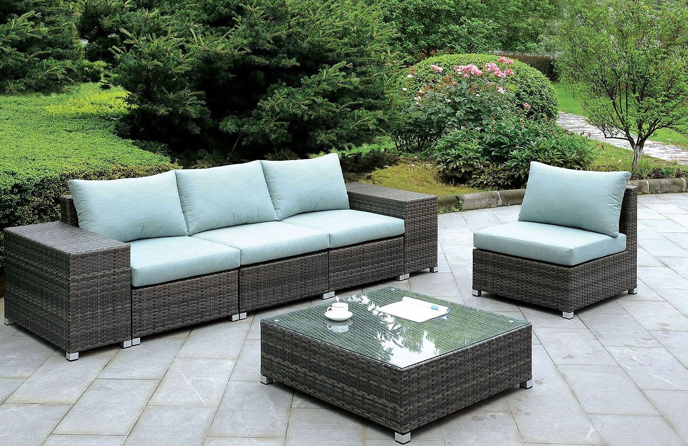 Morgana Outdoor Modular Seating Set - Morgana Outdoor Modular Seating Set - Outdoor Furniture - Outdoor