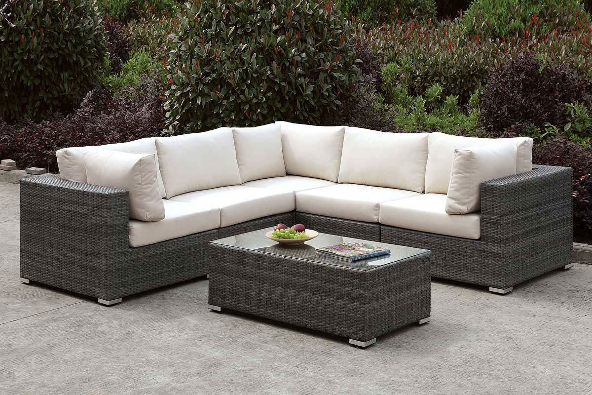 Somani Outdoor L-Shaped Sectional Set (Configuration 13) - Somani Outdoor L-Shaped Sectional Set (Configuration 13) - Outdoor