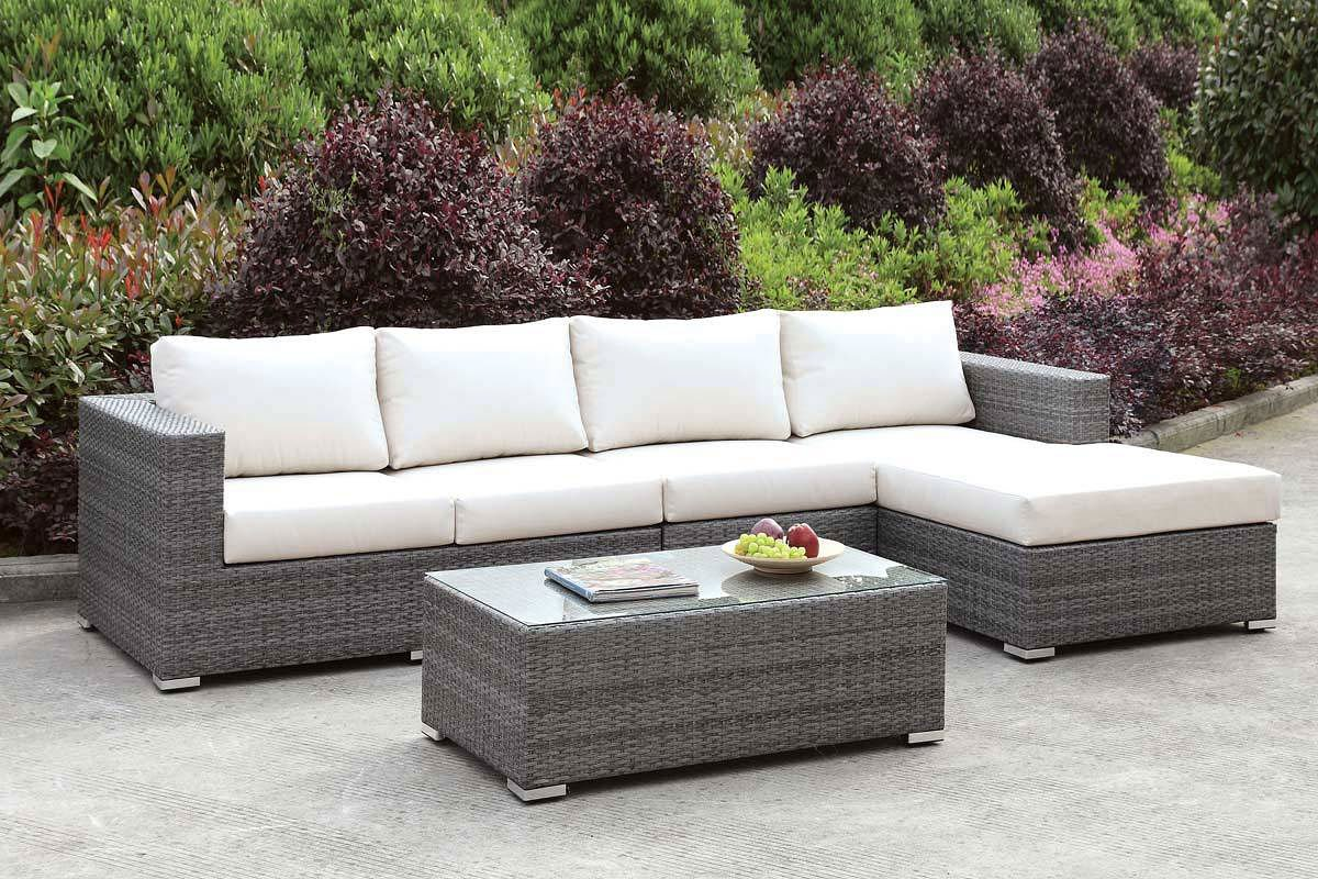 Somani Outdoor L-Shaped Sectional Set (Configuration 14) - Somani Outdoor L-Shaped Sectional Set (Configuration 14) - Outdoor