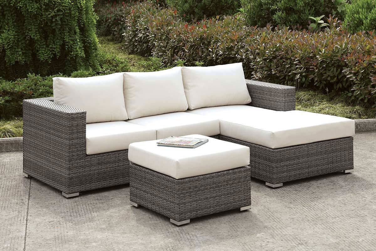 Somani Outdoor Small L-Shaped Sectional Set (Configuration 15) - Somani Outdoor Small L-Shaped Sectional Set (Configuration 15